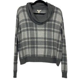 NWT Soft Joie Taisiya Cowl Neck Plaid Sweater